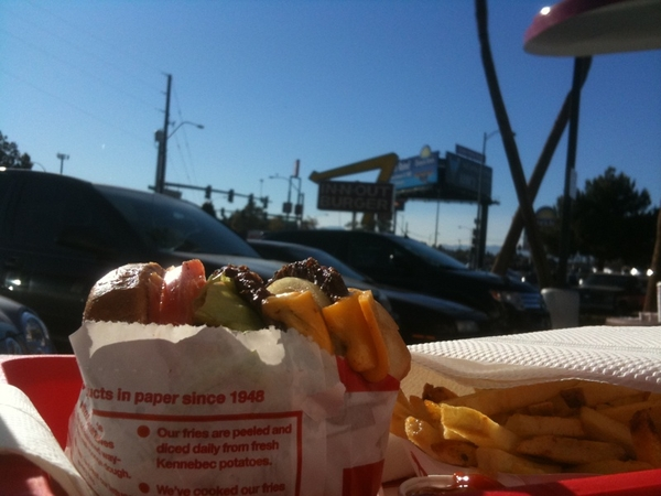 I am going to eat in-n-out burger 3 times in 36 hours. #1