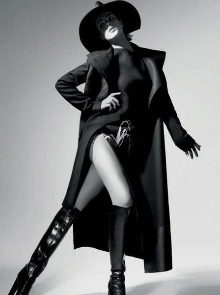 Eliza Cummings stars in Costume National FW12 ad campaign by photographer: Glen Luchford