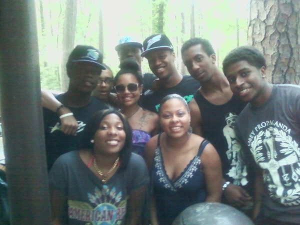 Da squad at the cookout yesterday.