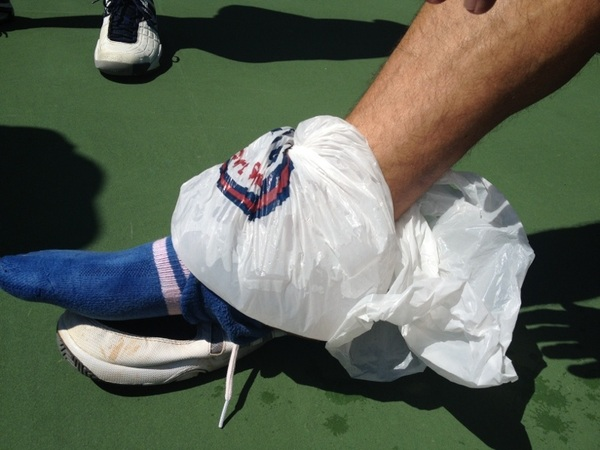 Father Time does what no Director could... @Todd_Zeile rolls the ankle and we're out.