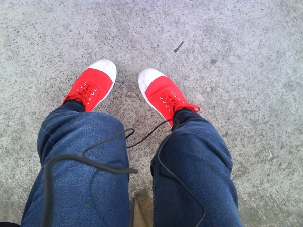 J'aime mes shoes. Lol :)