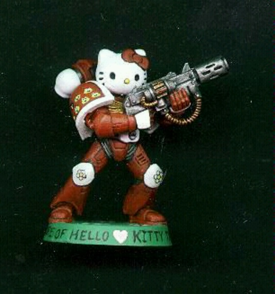 Space marine #HelloKitty - Somebody is locked & loaded. #Toys