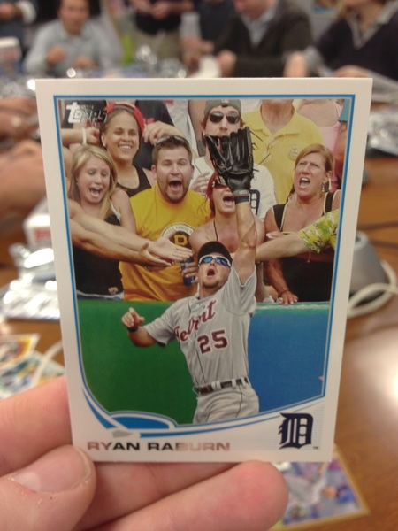 "The short prints in @ToppsCards - ""out of bounds"" cards including this Ryan Raburn classic"