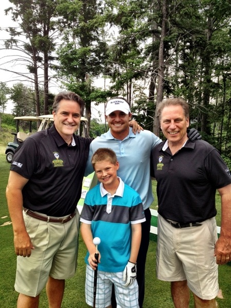My son Jace, Coach Izzo Coach Mariucci and me having fun at Greywalls