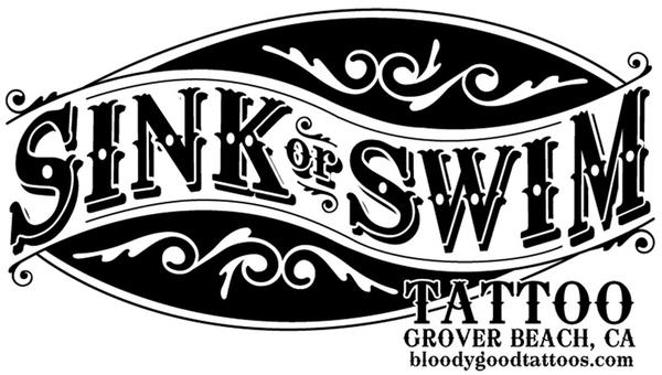 SINK OR SWIM TATTOO SHOP here's my new shop logo. by Gary Ellsworth ...