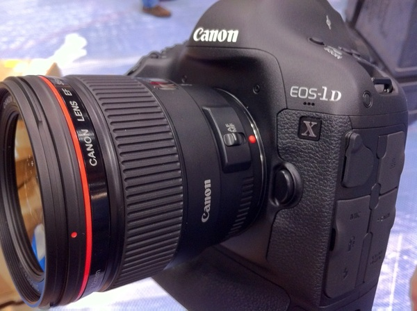 Just touched the new #Canon 1DX here at #PhotoPlus woohoo