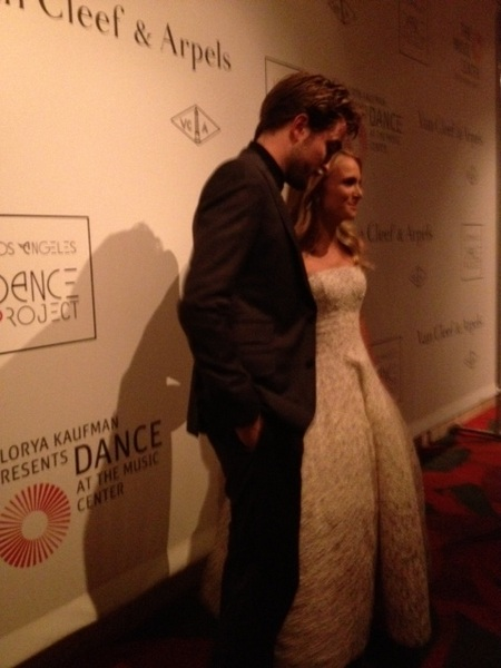 Robert Pattinson & Natalie Portman @vancleefarpels dinner for LA Dance Project at Disney Hall