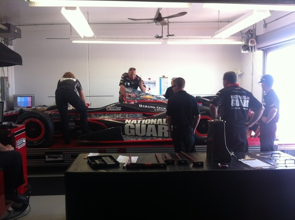 @JRHildebrand's @PantherRacing machine in for #tech @IMS. #Indy500