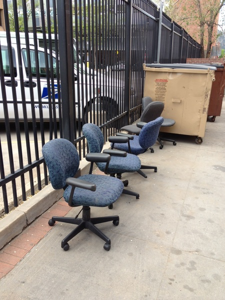 Hey #Boulder bootstrapping startups: chairs by the dumpster behind the post office right now!