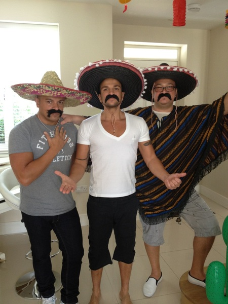 Mike me and Andrew getting ready for our Mexican party :)