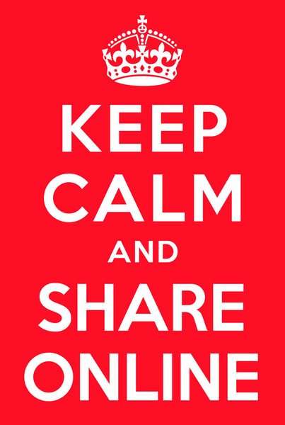 keep calm and share online