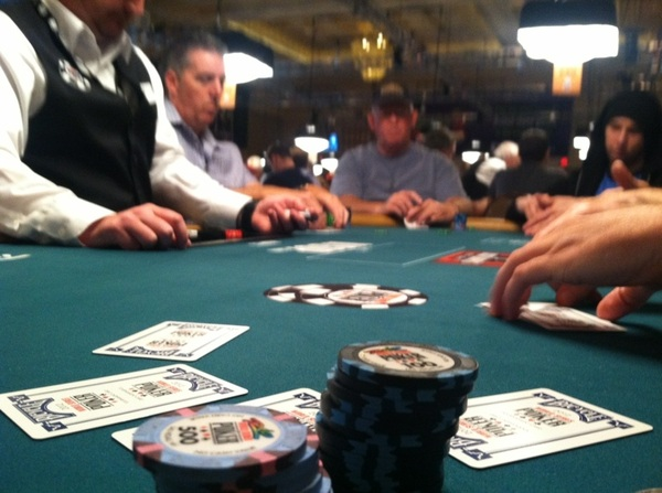 Game on, mothatruckas... Good table draw, only 2-3 solid players... $1500 O8 ftw #ddWSOP #WSOP8 Gooooooooooooo