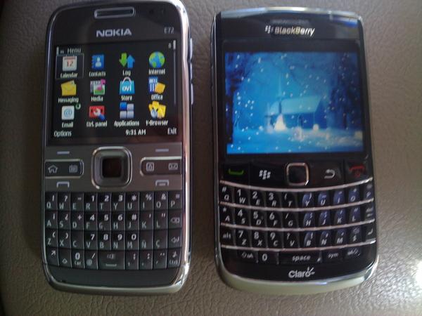 - Nokia E72 vs BB Bold2 9700 comparisson review coming ...