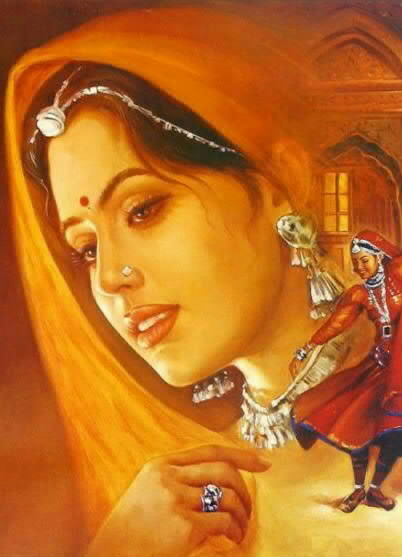 My favorite indian girl painting@Jenna_Presley @juliecashxxx @RayleneXXX @Misstabstevens @ALETTAOCEANXXXX