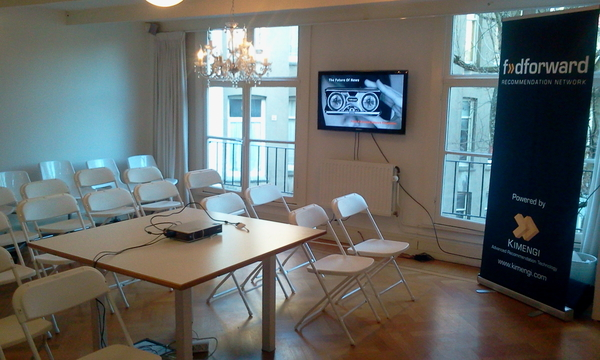 Meeting room set for 36 @amsterdamjs'rs