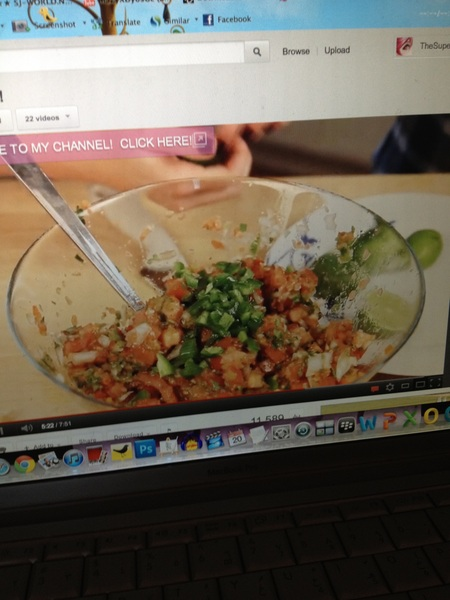 After watching this video, I&#039;m excited to try making this salsa dip~ check out YouTube.com/heykayli