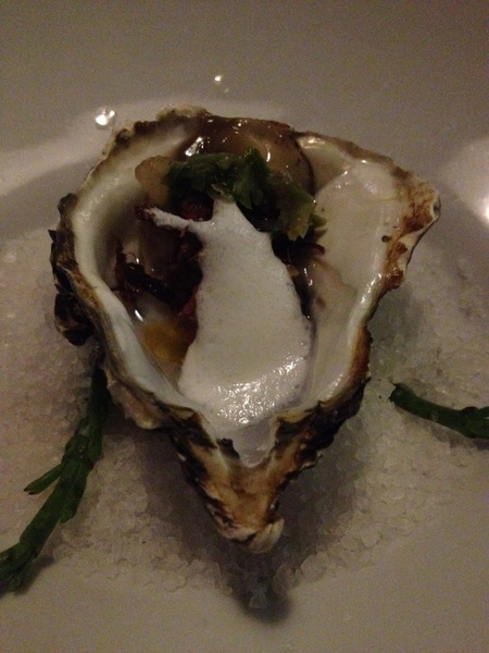 Mision 19: local oyster w crunchy beef, cured nopales and crema foam was brilliant