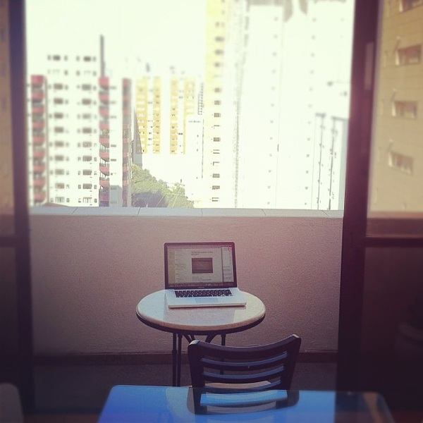 My workplace in Sao Paulo
