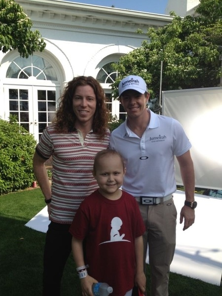 Did a commercial today for St. Jude children's hospital w/ @Shaun_White and a 7 year old boy called Dawson. #inspiring