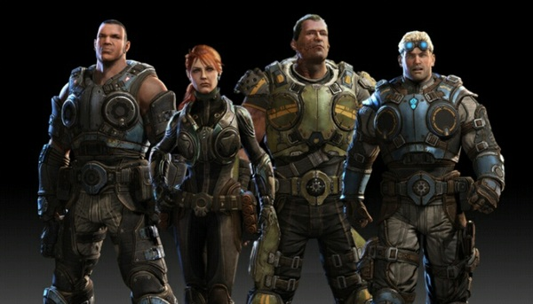 Cole Train on the left, Baird on the right...who the fuck are those in the middle? NEW COGS! LOL #GearsJudgment