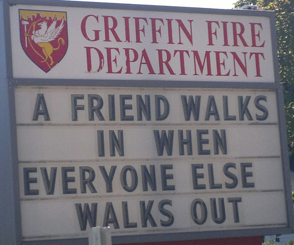 Today on the Griffin Fire station sign. 1 of 2. #thurstoncounty #olympia