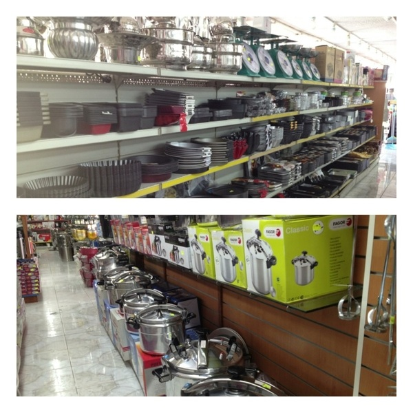 Abu Dhabi: Cool stores by Iranian mkt w goods 4 chefs/caterers/etc. Incred amt of pressure cookers,molds,thermal pots!
