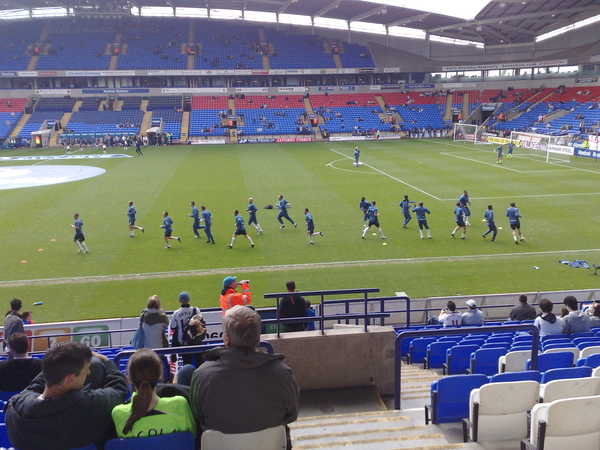 Wanderers players warning up before the Villa game. #bwfc