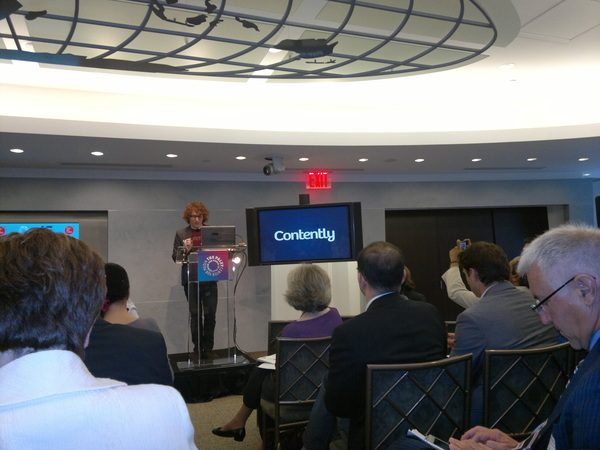 At the #PaleyNext event at the @paleycenter watching NYC startup @contently