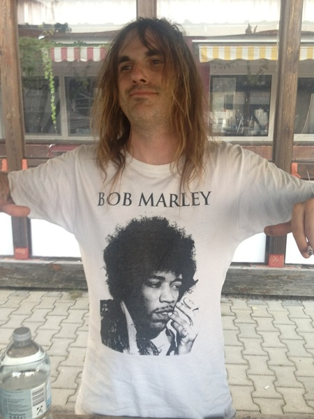 Cool Bob Marley shirt!!!! WTF?? @kliphscurlock is very happy