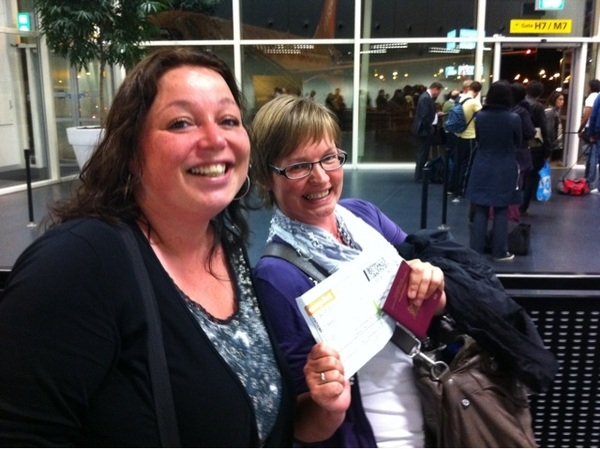 About to board the plane to London for #jduk11 with the two Dutch JoomlaDays woman!