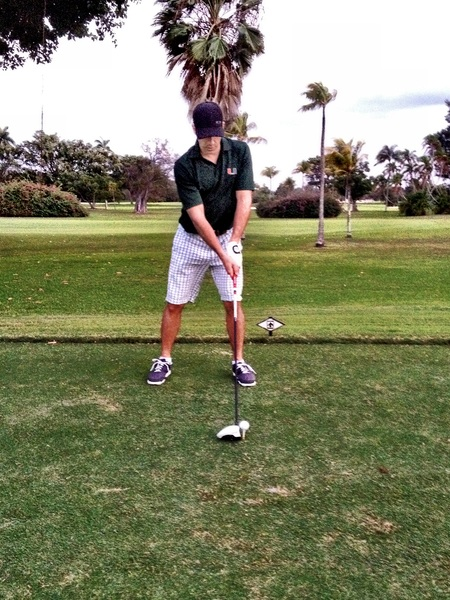 sporting an @oakley hat and  @univmiami shirt on the golf corse today !