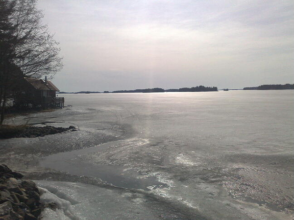 The lake is no place to be now, the ice is finally melting