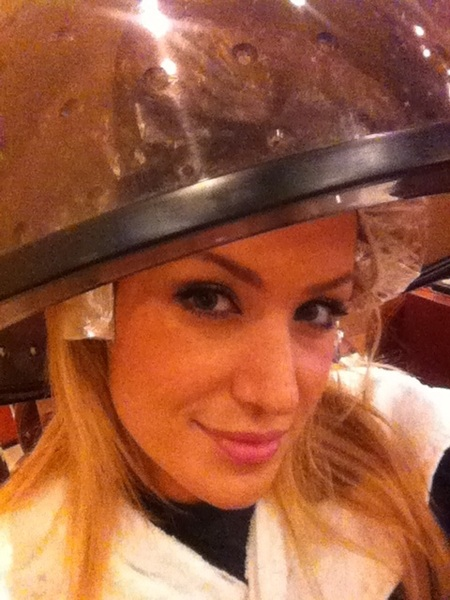 Being all sexy, #Hairinfoils lolol gotta love being a blonde
