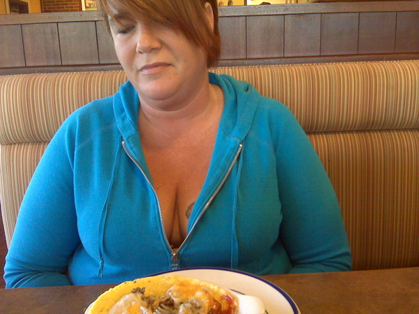 Cleavage at Breakfast with @stripeysoxrule