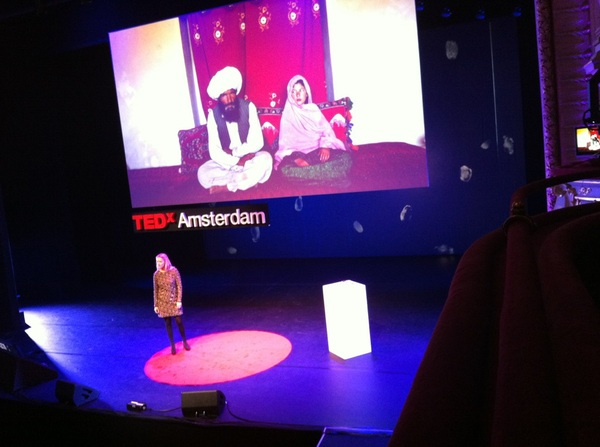 Mabel van Oranje #TEDxAms gives a short speech - the Elders