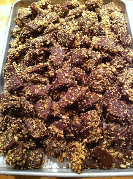 Finishing 7 pounds of butter-pecan toffee to take to my friends in Oaxaca for Christmas!