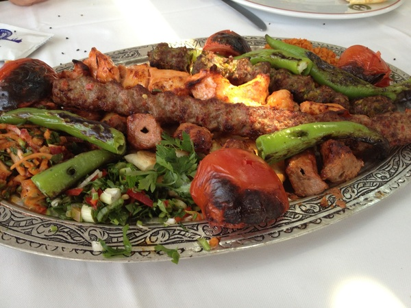 Had a great kebab platter